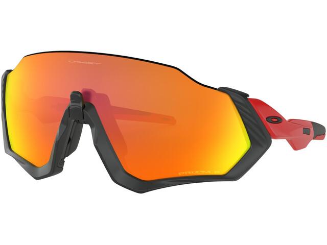 97338a8357ac81 Oakley Flight Jacket - Lunettes cyclisme - rouge noir - Boutique de ...